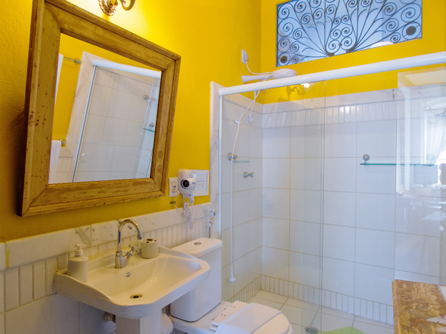 Bathroom, luxury room Oxum, with view, Pelourinho, Salvador