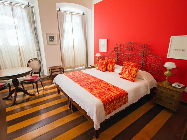 Habitación doble Xangô, cama queen, con vista al Pelourinho