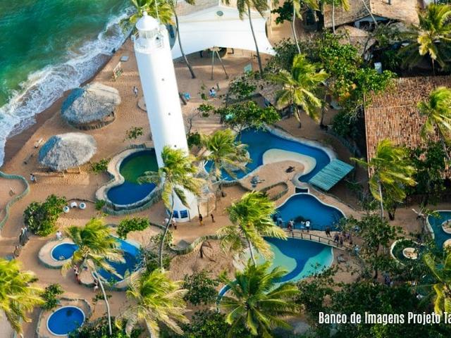 Foto aérea - Praia do Forte | Imagem: Projeto Tamar