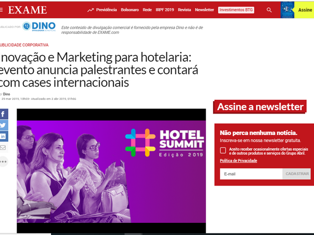 Inovação e Marketing para hotelaria: Hotel Summit