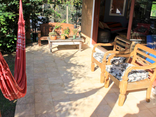 Varanda jardim - Pousada Casa da Lagoa - Florianópolis