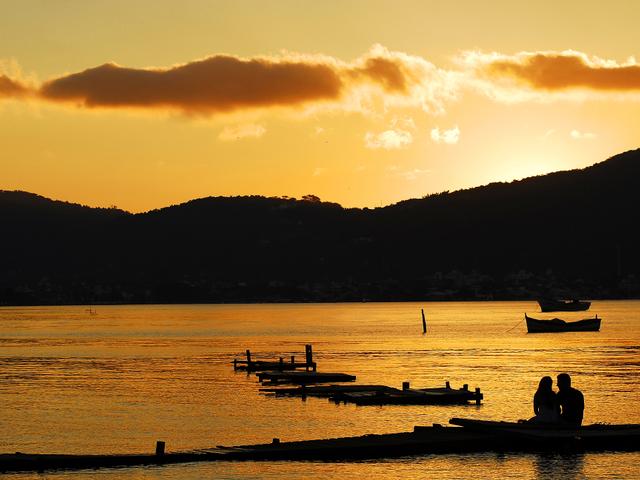 Por do sol em Florianópolis - Pousada Casa da Lagoa