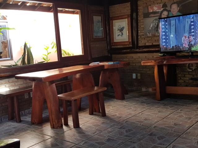 Sala de TV Pousada Porto da Barra Barra Grande