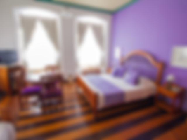 Family room, queen bed, with view over Pelourinho, Salvador